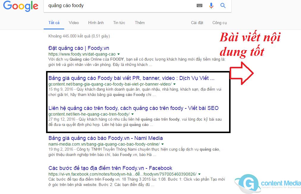 Top 3 các kết quả hàng đầu trên Google kiếm được là của 60% số lần nhấp chuột không phải trả tiền