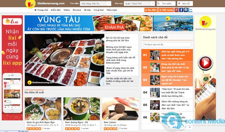 20 Chuyên trang ẩm thực đáng quan tâm quảng cáo lớn nhất Việt Nam