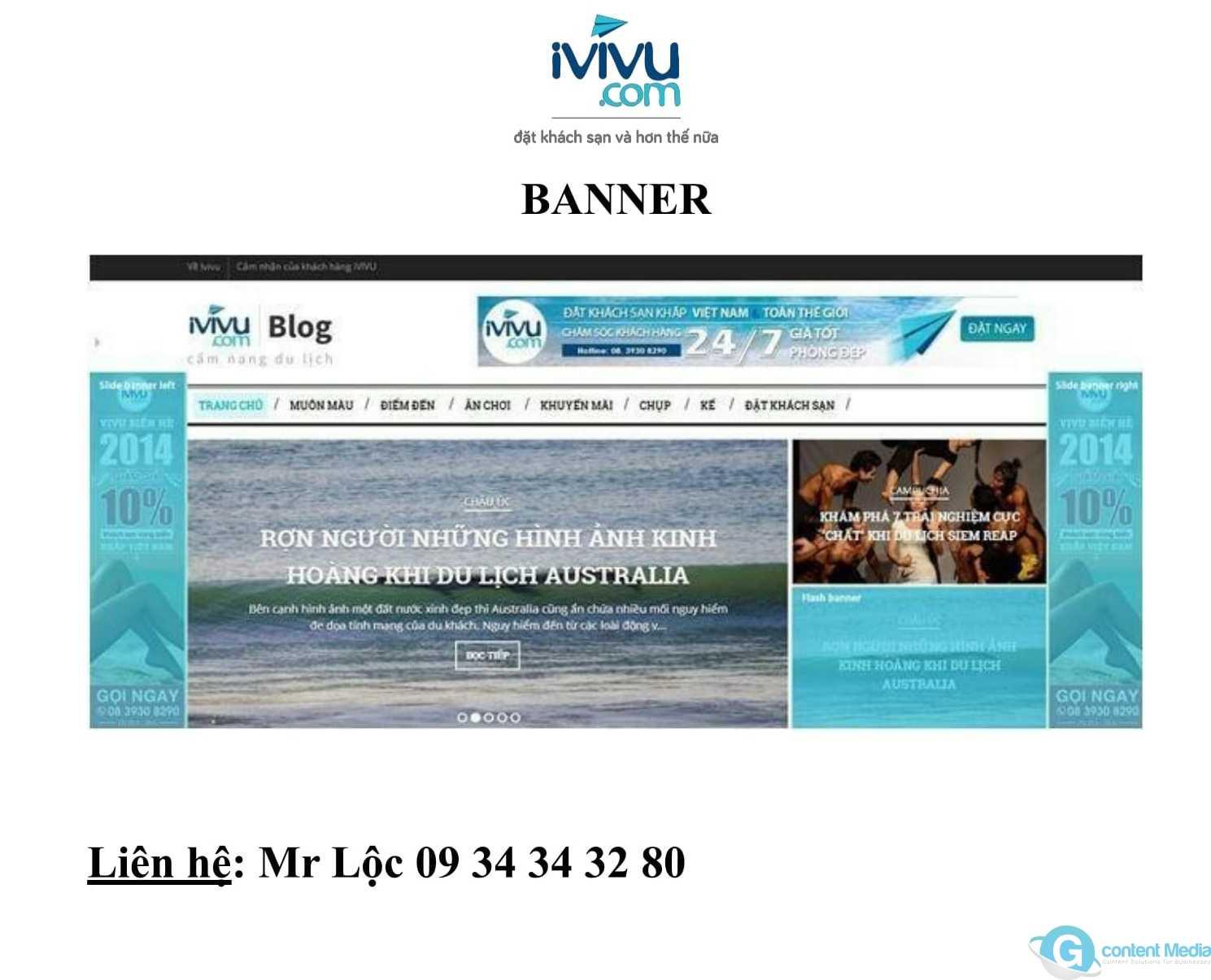 Bảng giá quảng cáo ivivu.com update mới nhất