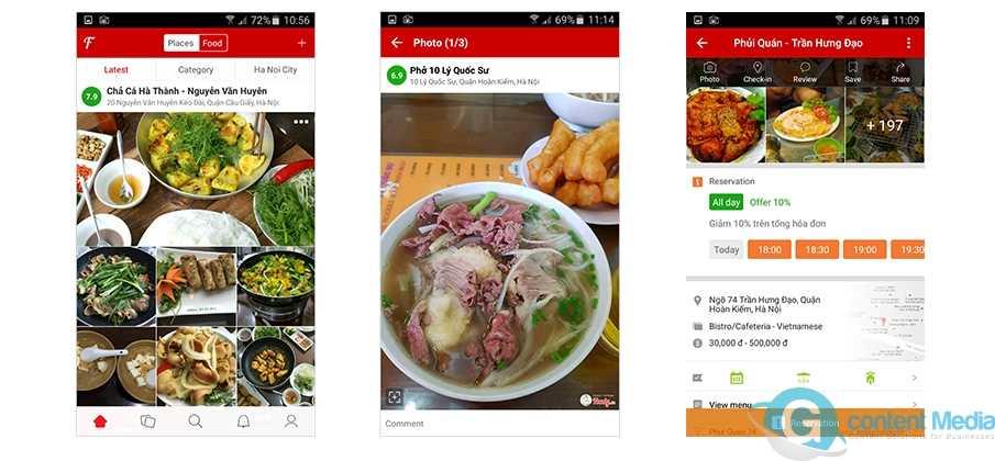 Liên hệ Foody Cần Thơ – giá quảng cáo Foody Cần Thơ cho quán ăn nhà hàng