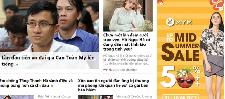 Bảng giá quảng cáo báo điện tử Eva.vn chiết khấu % cao