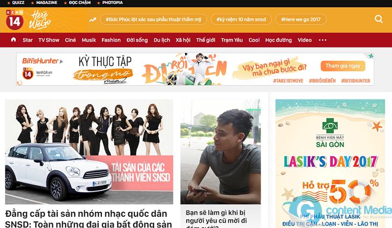 Bảng giá quảng cáo báo điện tử Kenh14.vn mới nhất - Update liên tục