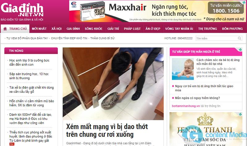 Bảng giá quảng cáo báo Gia Đình và Xã Hội (giadinh.net.vn) chiết khấu cao