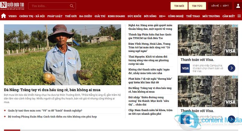 Bảng giá quảng cáo báo Người Đưa Tin (Nguoiduatin.vn) CHIẾT KHẤU % CAO