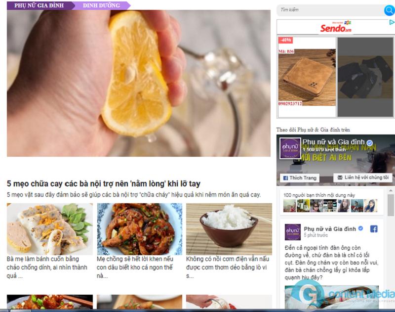 Bảng giá quảng cáo báo Phụ Nữ và Gia Đình (Phunuvagiadinh.vn) - Phụ Nữ Online