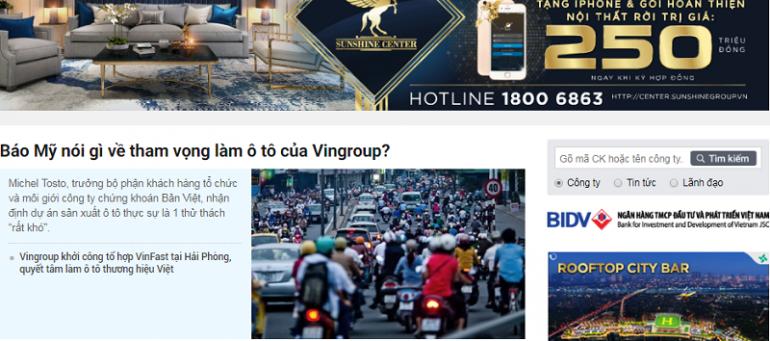 Bảng giá quảng cáo báo cafef.vn CHIẾT KHẤU CAO, Booking NHANH