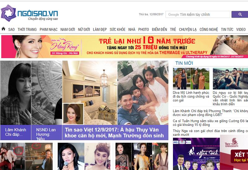 Bảng giá quảng cáo báo Ngoisao.vn CK % cao - Booking Nhanh