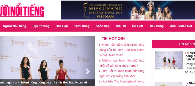 Báo giá quảng cáo báo Người Nổi Tiếng (baonguoinoitieng.vn) CK % cao