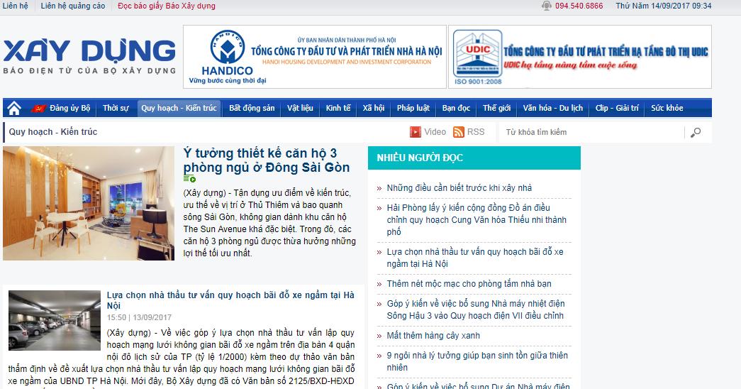 Bảng giá quảng cáo báo XÂY DỰNG - baoxaydung.com.vn CK CAO – Book Nhanh