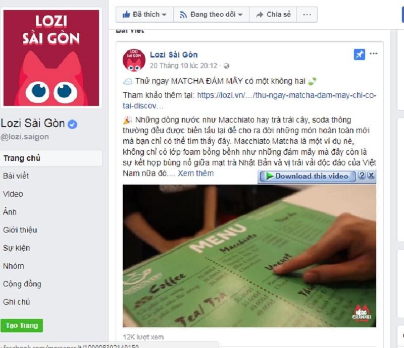quay video quảng cáo Lozi