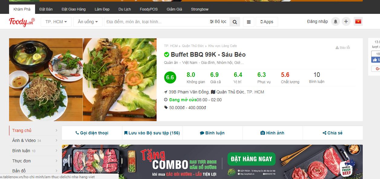Dịch vụ viết bài review địa điểm ăn uống, quán ăn, nhà hàng trên Foody.vn
